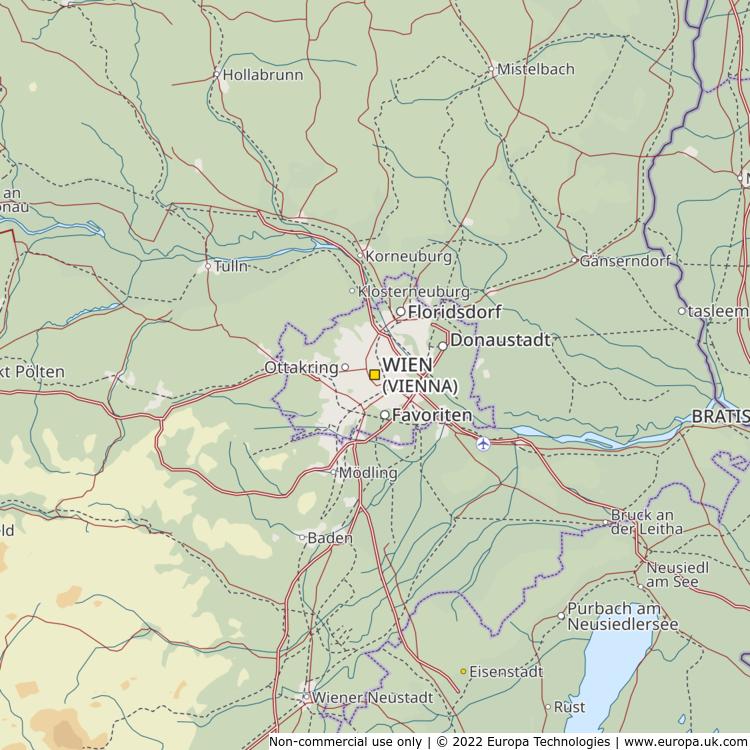 Map of Wien (Vienna), Austria from the Global 1000 Atlas